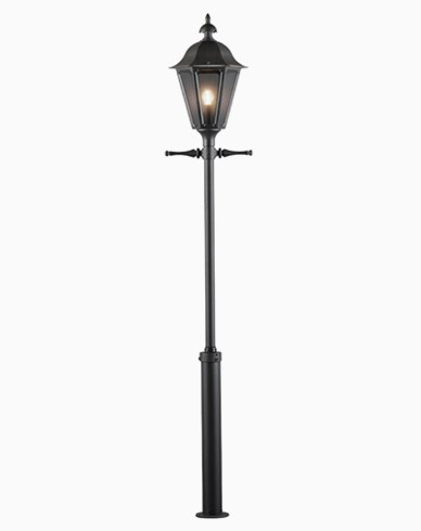 Konstsmide Pallas stolplykta E27 svart inkl. stolpe 550-750