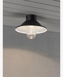 Konstsmide Vega vegg och taklykte LED 8W Svart. 552-750