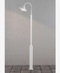 Konstsmide Vega lyktestolpe E27 Hvit inkl. stolpe. 560-250