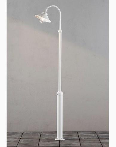 Konstsmide Vega stolplykta E27 Vit inkl. stolpe. 560-250