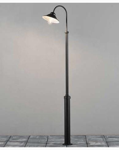Konstsmide Vega lyktestolpe E27 svart inkl stolpe 240 cm. 560-750