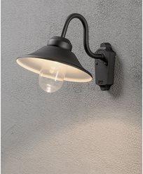 Konstsmide Vega vegglampe 8W dimbar LED svart. 564-750