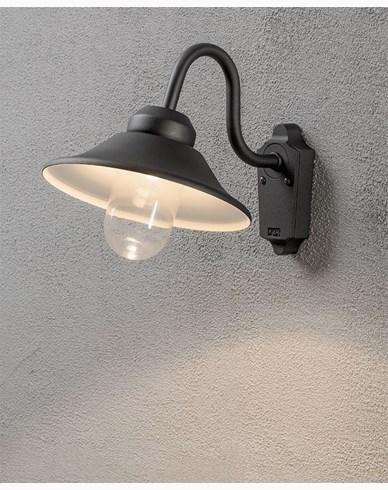 Konstsmide Vega vägglykta 8W dimbar LED svart. 564-750