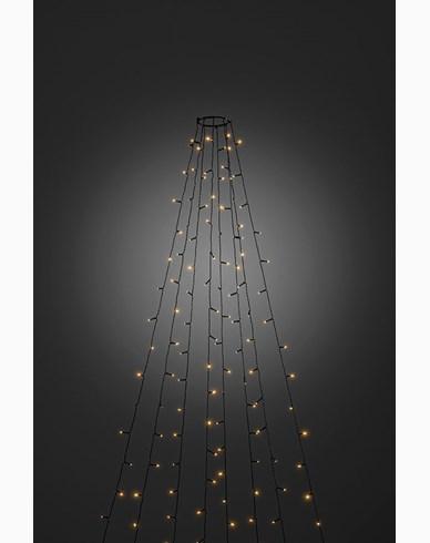 Konstsmide Julgransslinga 30x8 LED amber 240cm grön kabel 24V/IP20. 6365-810