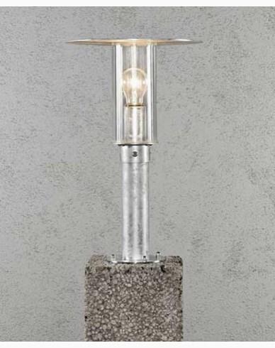 Konstsmide MODE grindstolpslykta E27 galvaniserert inkl stolpe. 661-320