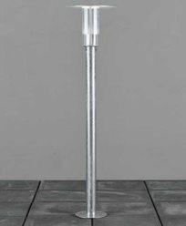 Konstsmide Mode Sokkellamp dimbar 5W LED 230V galvanisert inkl stolpe. 702-320