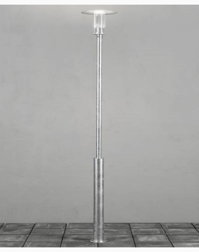 Konstsmide Mode stolplykta dimbar 12W 230V LED galvaniserad inkl stolpe. 703-320