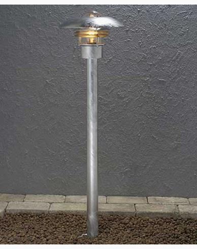 Konstsmide Modena Sokkellampe 98 cm. Galvanisert 7301-320