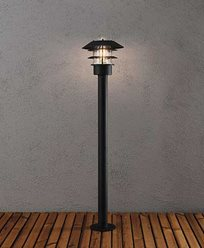Konstsmide Modena Sokkellampe 98 cm. Svart 7311-750