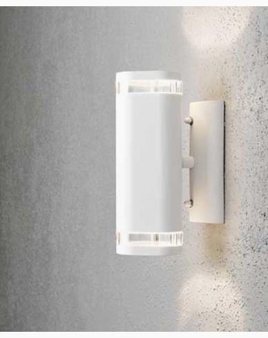 Konstsmide Modena vegglampe opp/ned GU10. 7512-320. Hvit/transparent aluminium