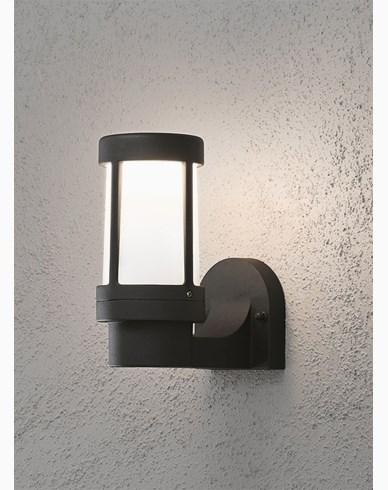 Konstsmide Siena vägglykta E27 svart. 7513-752
