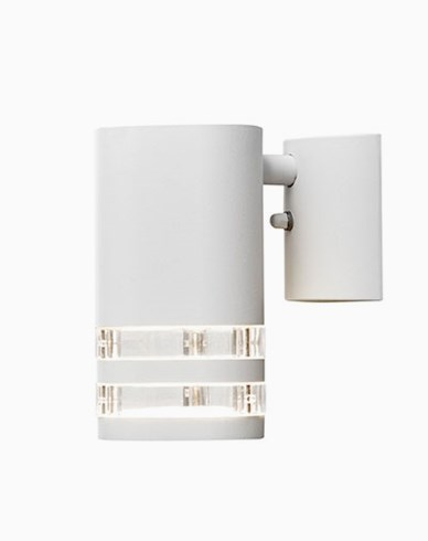 Modena vegglampe ned GU10 hvit/transparent 7515-250