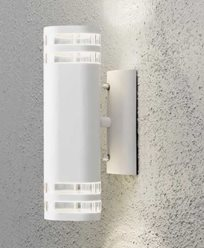 Konstsmide Modena vägglampa upp/ned GU10. 7516-250. Vit/transparent matt alumin