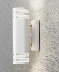 Konstsmide Modena vegglampe opp/ned GU10. 7516-250. Hvit/transparent matt alumin