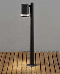 Konstsmide Modena Sokkellampe 70 cm. 7517-750. Svart