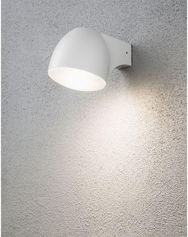 Konstsmide Ferrara vägglykta LED 4W Vit. 7531-250