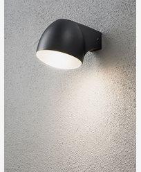 Konstsmide Ferrara vägglykta LED 4W Svart. 7531-750