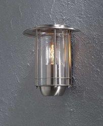 Konstsmide Trento veggplafond rustfri. Klart glass 7565-000