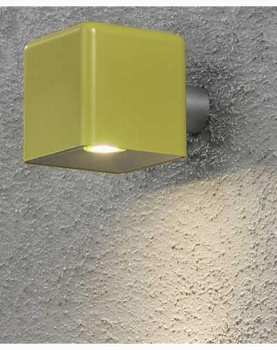 Konstsmide Amalfi vägglampa 3W 12V gul plast ink trafo + sladd. 7681-100