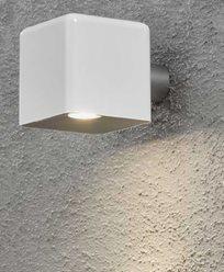 Konstsmide Amalfi vegglampe 3W 12V hvit plast ink trafo + sladd. 7681-200