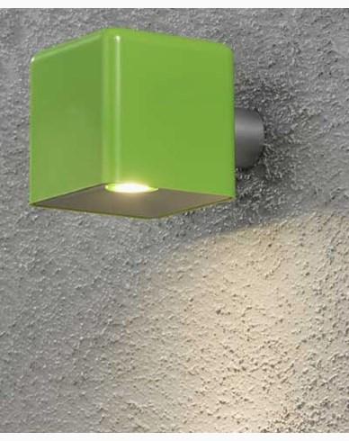 Konstsmide Amalfi vägglampa 3W 12V grön plast ink trafo + sladd. 7681-600