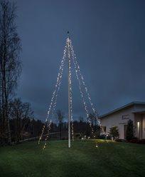Konstsmide Flaggstang lyslenke 5x100 varmhvit LED 24V/IP44. 4780-117