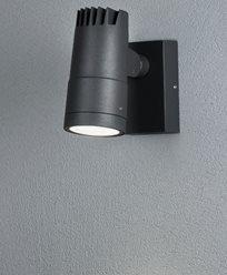 Konstsmide Andria Vegglampe High Power LED 8W grå Justerbart lysbild. 7861-370