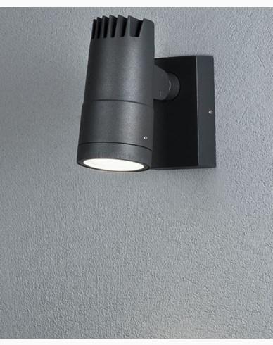 Konstsmide Andria Vägglampa High Power LED 8W grå Justerbar ljusbild. 7861-370
