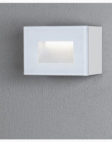 Konstsmide Chieri vägglykta 4W High Power LED kvadrat vit. 7862-250