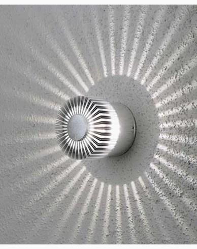 Konstsmide Monza vägglykta 3W High Power LED 230V. Silver 7900-310