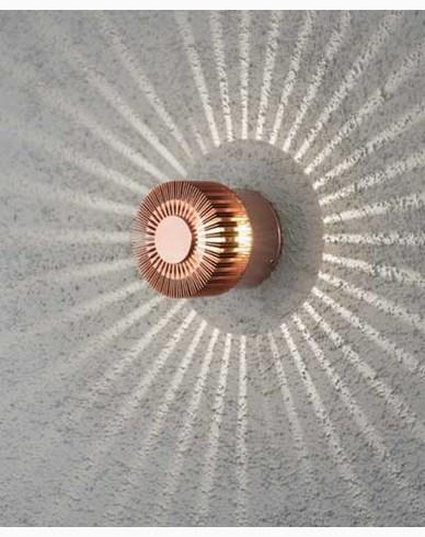 Konstsmide Monza vägglykta 3W High Power LED 230V. Kopparanodiserad 7900-90