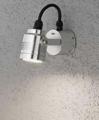 Konstsmide Monza vegglampe retningsbar aluminium 3W 230V High Power LED. 7903-310
