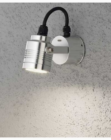 Konstsmide Monza vägglykta riktningsbar aluminium 3W 230V High Power LED. 7903-310