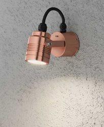 Konstsmide Monza vägglykta riktningsbar kopparanodiserad 3W 230V High Power LED. 7903-900