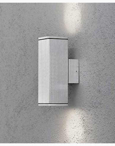 Konstsmide Monza vägglykta aluminium GU10 upp/ned 7907-310