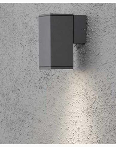 Konstsmide MONZA vägglampa antrasitgrå ned kvadrat GU10. 7908-370