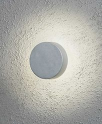 Konstsmide Pesaro vegglampe runde LED. Aluminium 7909-310