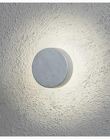 Konstsmide Pesaro vägglykta rund LED. Aluminium 7909-310