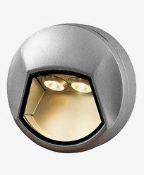 Konstsmide Chieri vegglampe 2x1W 230V LED runde aluminium 7913-310