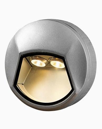 Konstsmide Chieri vägglampa 2x1W 230V LED rund aluminium 7913-310