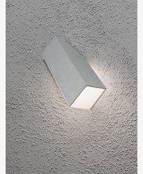 Konstsmide Imola vegglampe 1x3W LED aluminium. 7933-310