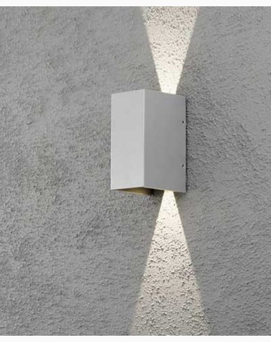 Konstsmide Cremona vägglampa grå 2x3W 230V high power LED. 7940-310