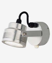 Konstsmide Monza vägglampa riktningsbar alu 6W 230V LED rörelsevakt 7942-310