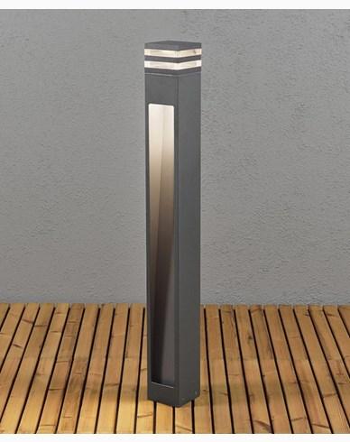 Konstsmide Massa Sokkellampe 8W HP LED mørkgrå 7945-370