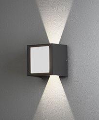 Konstsmide Cremona vegglampe opp/ned/fram 3x3W High Power LED grå. 7946-370