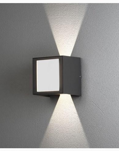 Konstsmide Cremona vägglampa upp/ned/fram 3x3W High Power LED grå. 7946-370