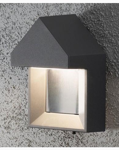 Konstsmide Cosenza vägglykta 1x5W High Power LED mörkgrå. 7958-370