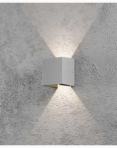 Konstsmide Cremona vägglykta grå 2x3W 230V LED 7959-310