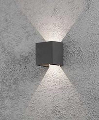 Konstsmide Cremona vägglykta mörkgrå 2x3W 230VLED 7959-370
