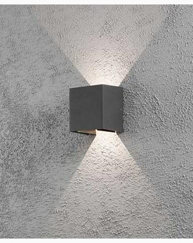 Konstsmide Cremona vegglampe mørkegrå 2x3W 230V LED 7959-370
